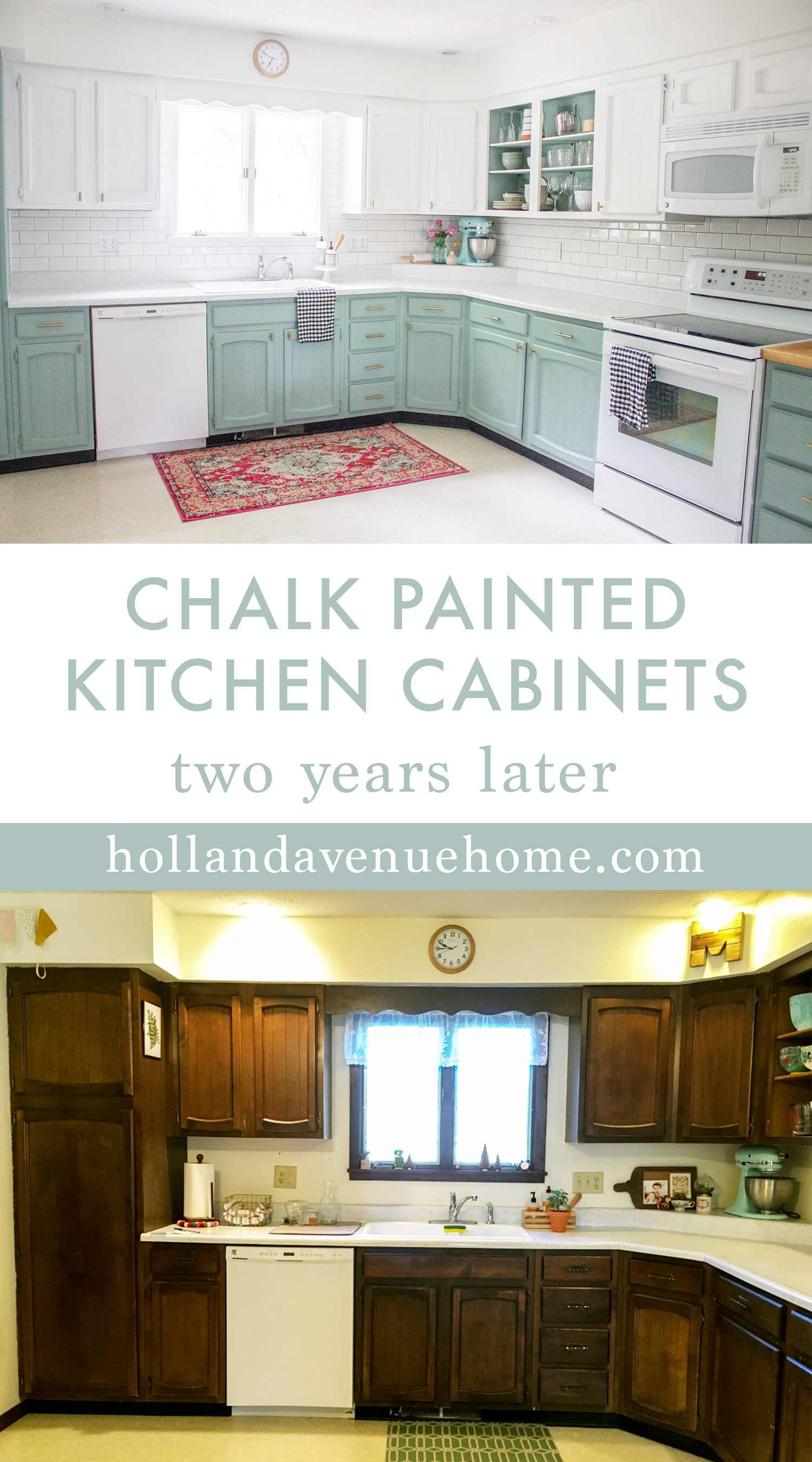 Images Of Painted Kitchen Cabinets Chalk Painted Kitchen Cabinets Two Years Later