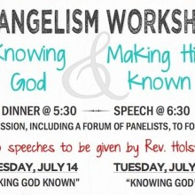 Evangelism Workshops Knowing God and Making Him Known Holland PRC flyer