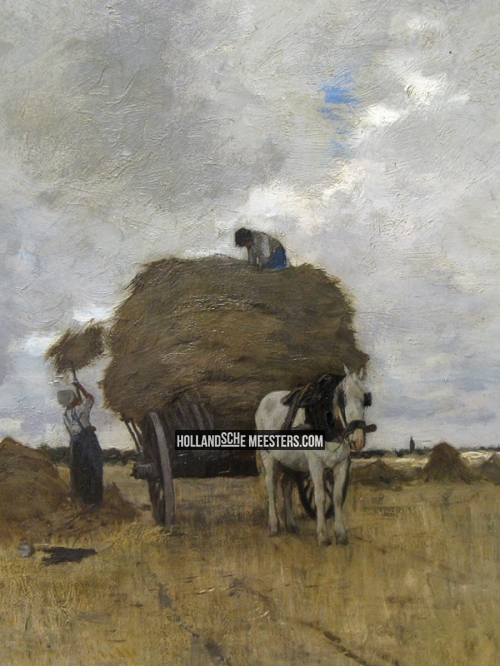 Behang Hollandse Meesters De Hooikar | Anton Mauve | Canvas Doeken En Art-wall