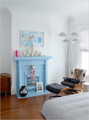 Blue Fireplace The Best Painted Fireplaces - The Holliday Collective