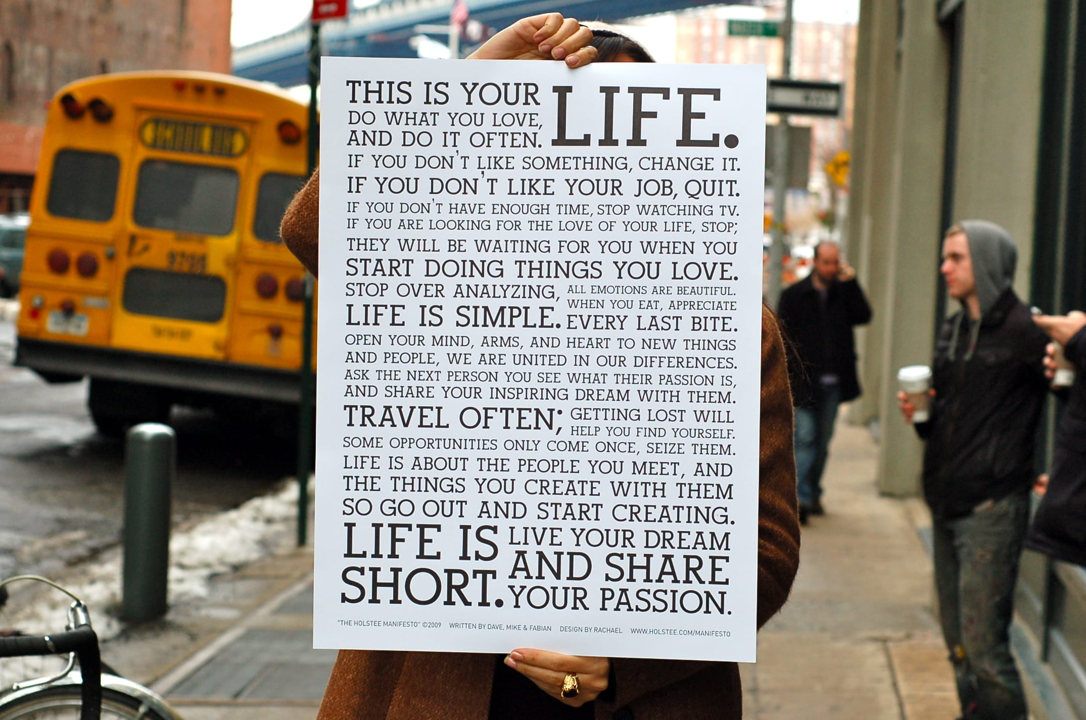 Holstee Manifesto holstee Manifesto - Hollingsworth Design Co.