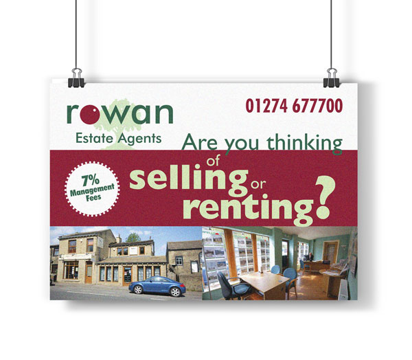 Rowan Estate Agents Flyer - Hollingwood Design and Print
