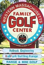 W.M. Family Golf Center Sign