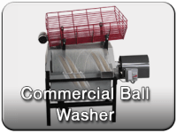 Commercial golf ball washer