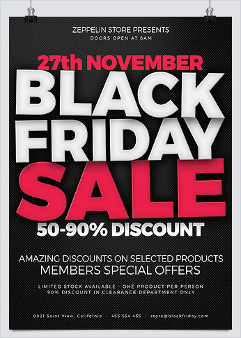 Best Business Flyer Templates for Black Friday Promotion - HollyMolly!