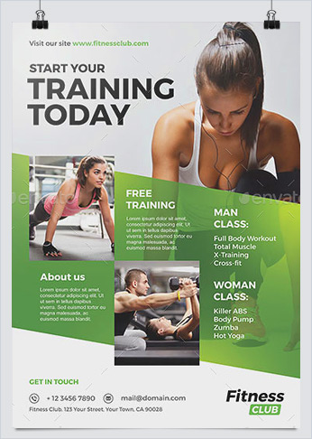 Best Fitness Business Flyers for Gym Marketing - HollyMolly! - fitness brochure template