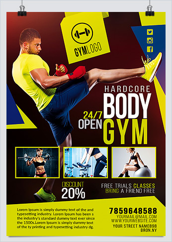 Best Fitness Business Flyers for Gym Marketing - HollyMolly!