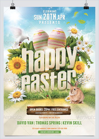 Best Flyer Templates for Easter Day Events - HollyMolly!
