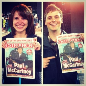 Our soon-to-be-framed Paul McCartney newspaper