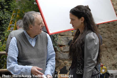 Pictured: Dario Argento directs his daughter Asia.