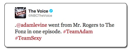 Adam Levine, The Fonze tweet