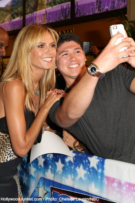 AGT, Heidi Klum with fan.