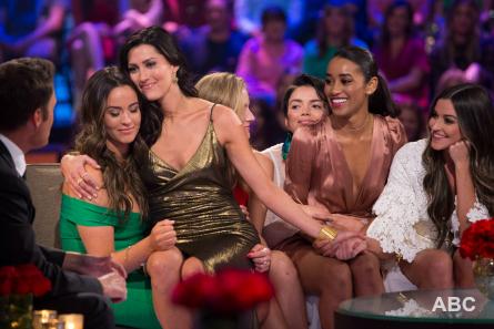 Bachelor 22 finale part 2, Pictured (l-r): Caroline, Becca, Kendall, Sienne, Becca, Tia