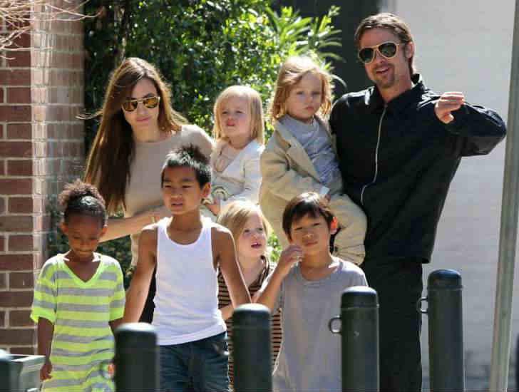 ブラピ&アンジーの養子を含む6人の子供達