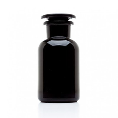 250 ML Miron Violet Glass Apothecary Jar - Black jar