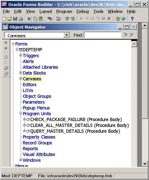 Oracle 9i, Oracle 10g and Oracle 11g Developer Suite Forms and - p-l form