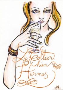 """Feutre et lettrage """"Bracelet Hermès"""""""