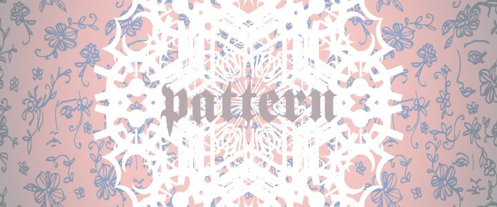 Surface pattern design – faces and flowers