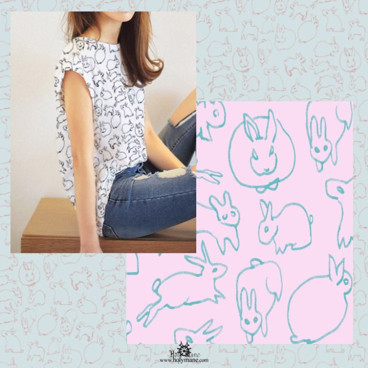 pattern design bunny