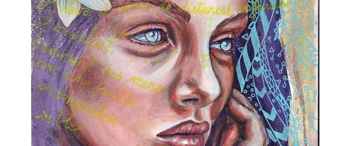 Peinture : Fleur bleue