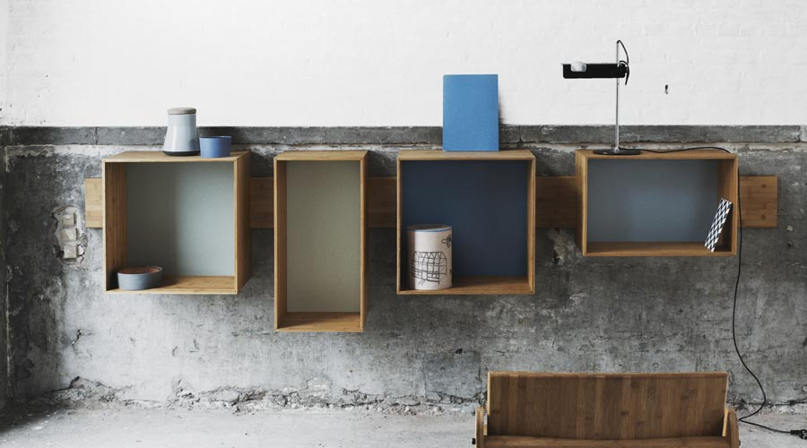 Wandregal Aus Holz Design-wandregal Aus Bambus - Sj Bookcase - Wedowood