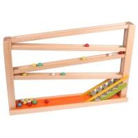Kugelbahn mit Glockenspiel bunt - waelderspielzeug