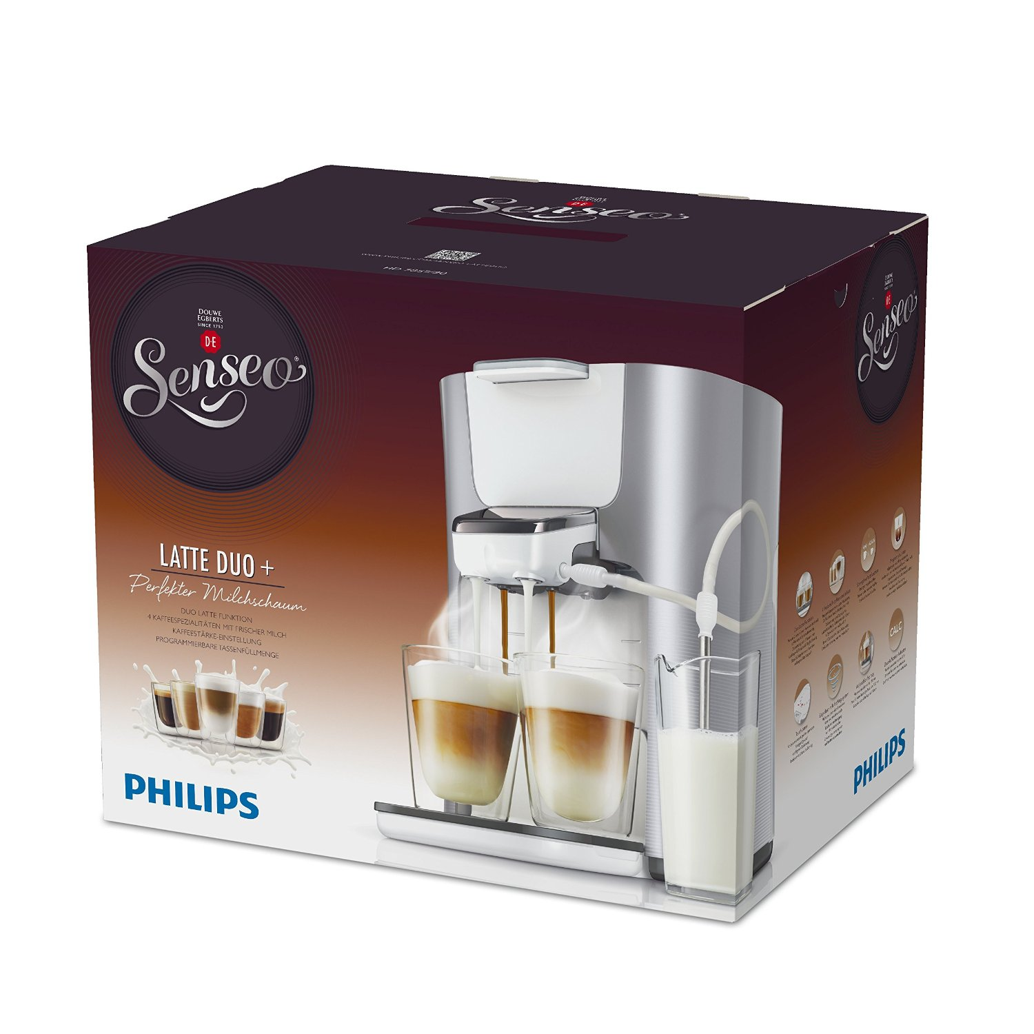 Senseo Kaffeemaschine Büro Philips Senseo Hd7857 20 Latte Duo Kaffeepadmaschine In