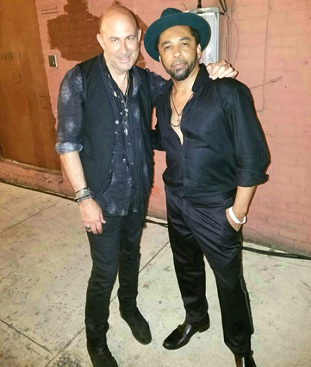 HOMBRE Magazine's Francisco Romeo with John Varvatos