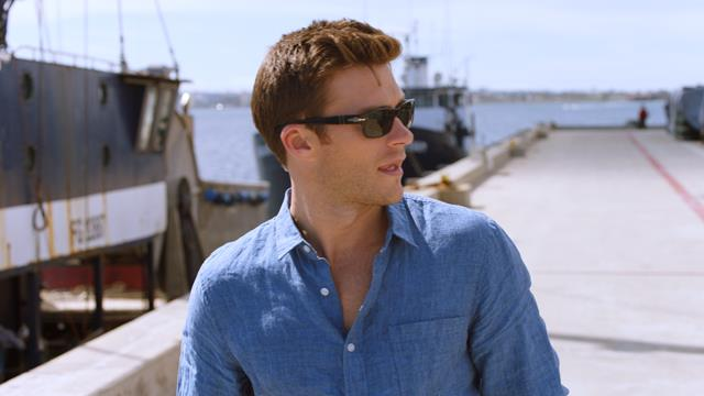 Scott looking at Harbour for HOMBRE Magazine (Copy)