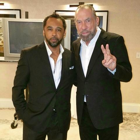 John Paul DeJoria with HOMBRE Magazine's Francisco Romeo