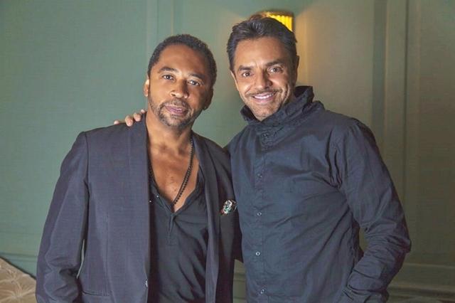 Eugenio Derbez with HOMBRE Magazine's Francisco Romeo