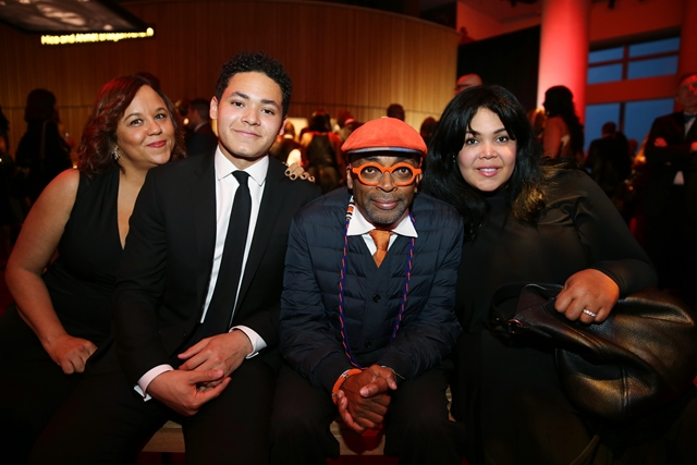 Miya Ali, Jacob Ali Wertheimer, Khaliah Ali Wertheimer and Spike Lee