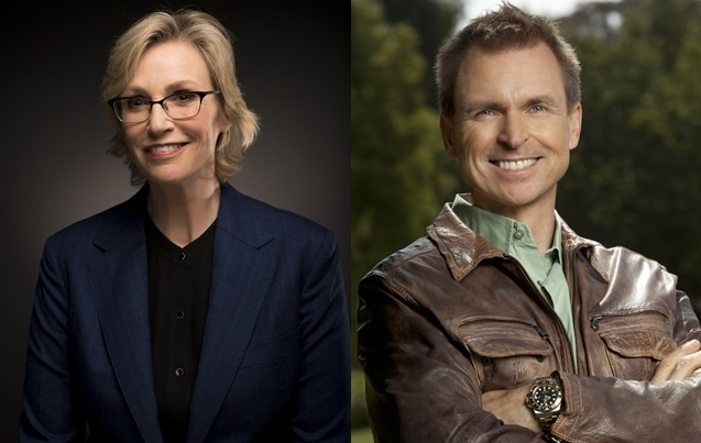 Jane Lynch and Phil Keoghan host of EarthLive