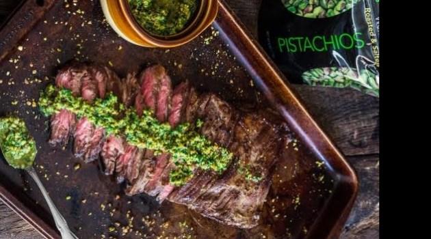 pistachios skirt steak