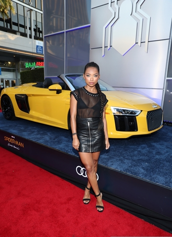 HOLLYWOOD, CA - JUNE 28: Logan Browning attends the World Premiere of 'Spider-Man: Homecoming' hosted by Audi at TCL Chinese Theatre on June 28, 2017 in Hollywood, California. (Photo by Rich Polk/Getty Images for Audi)