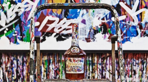 Hennessy launch party for JonOne Limited Edition bottle design - for HOMBRE Magazine 20