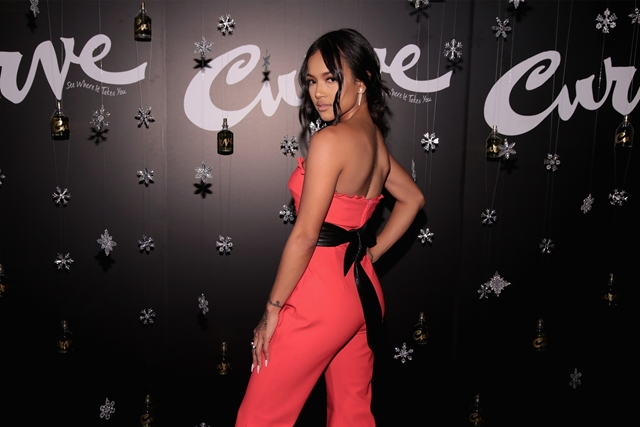 NEW YORK, NY - DECEMBER 07:  Actress & Model Karrueche Tran hosts the Curve Fragrances Holiday Party at Arlo NoMad on December 7, 2017 in New York City.  (Photo by Cindy Ord/Getty Images for Elizabeth Arden/Revlon)