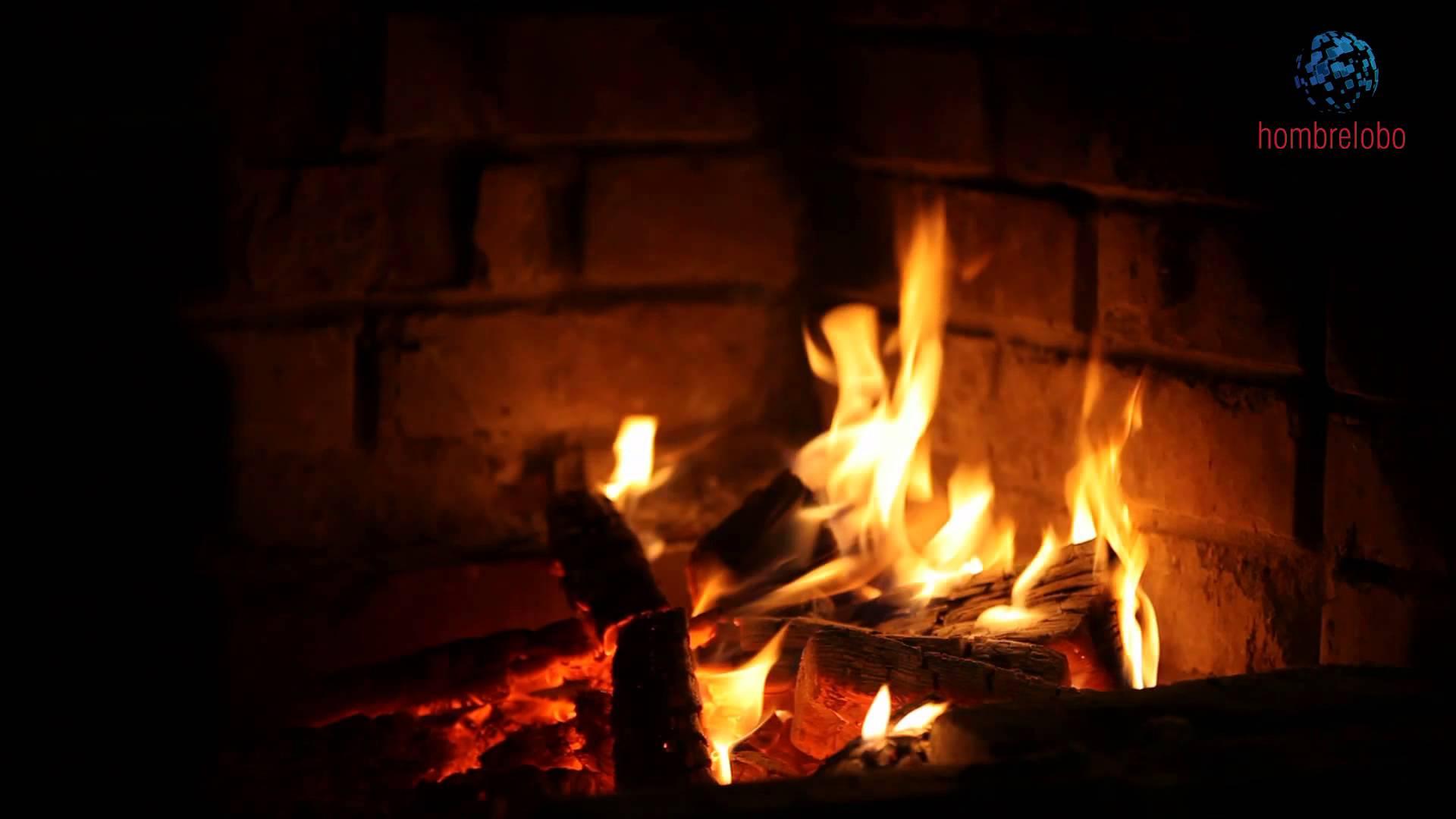 Animated Fireplace Wallpaper Fuego En La Chimenea Y Unos Villancicos
