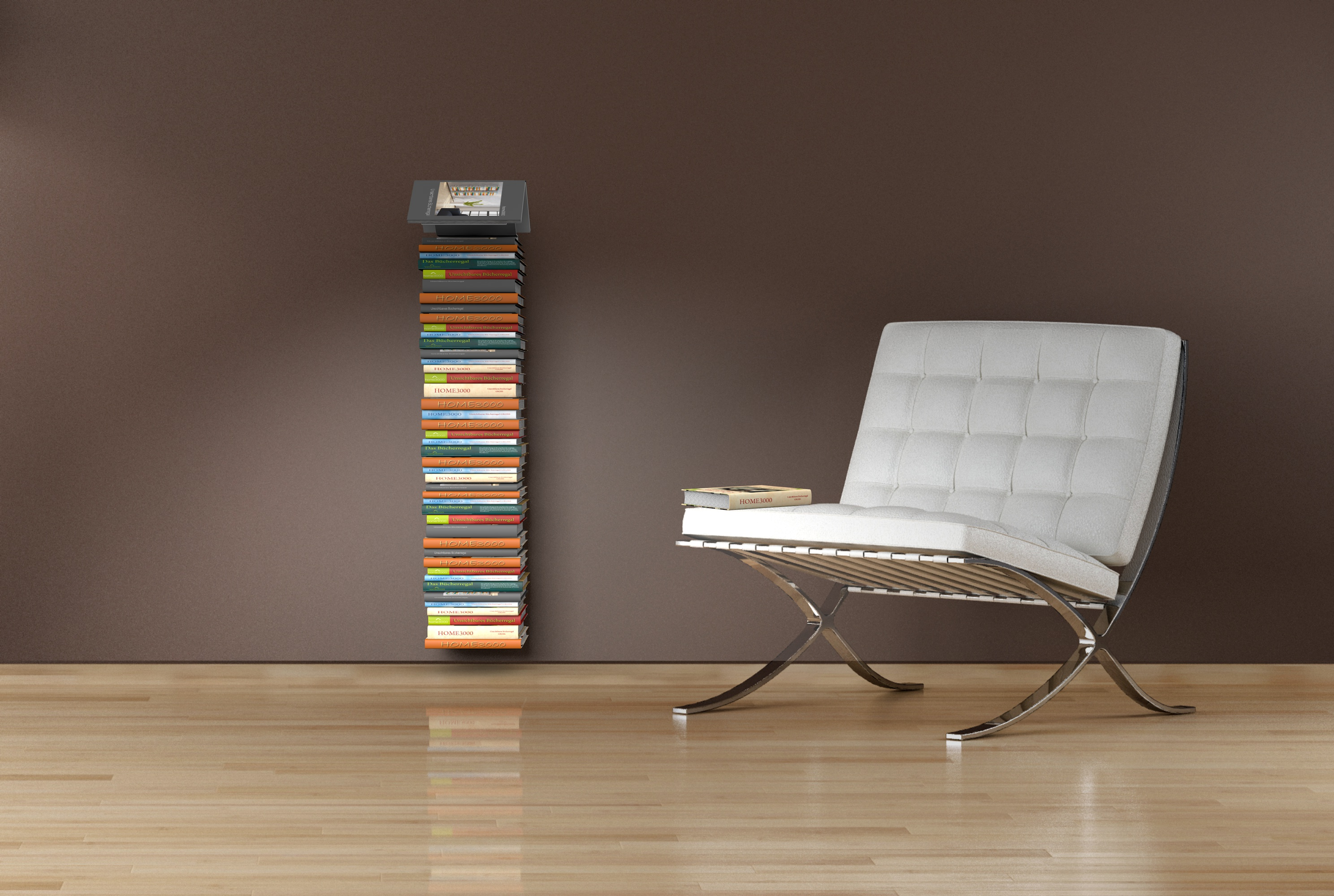 Bücher Regale Home3000 Bookmark Regal 2er Set Mit Unsichtbaren Bücherregalen