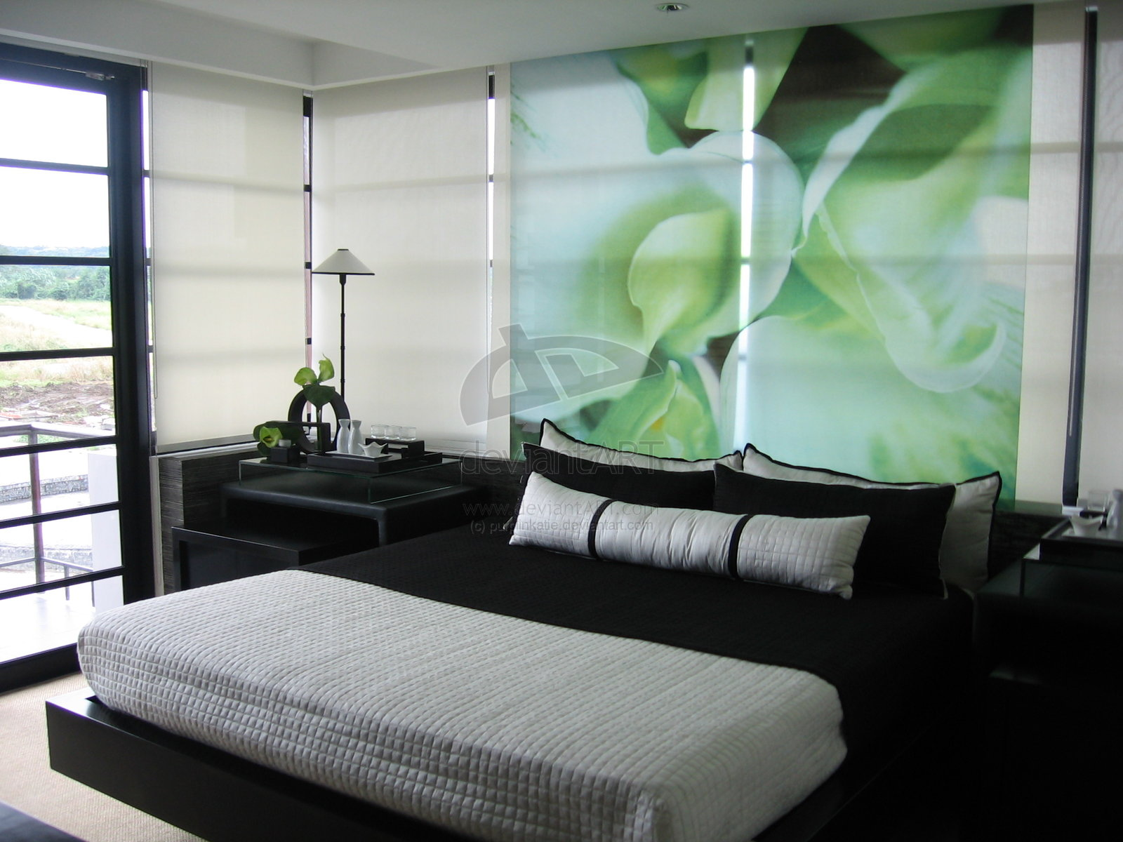 Black White And Green Bedroom 16 Green Color Bedrooms