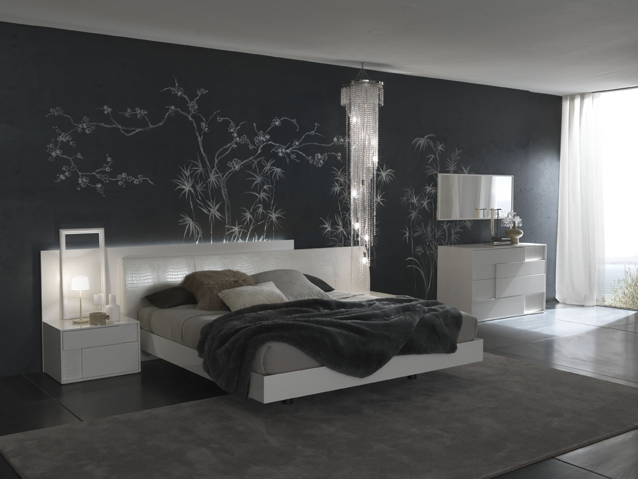 Modern Bedroom Walls Bedroom Decorating Ideas From Evinco