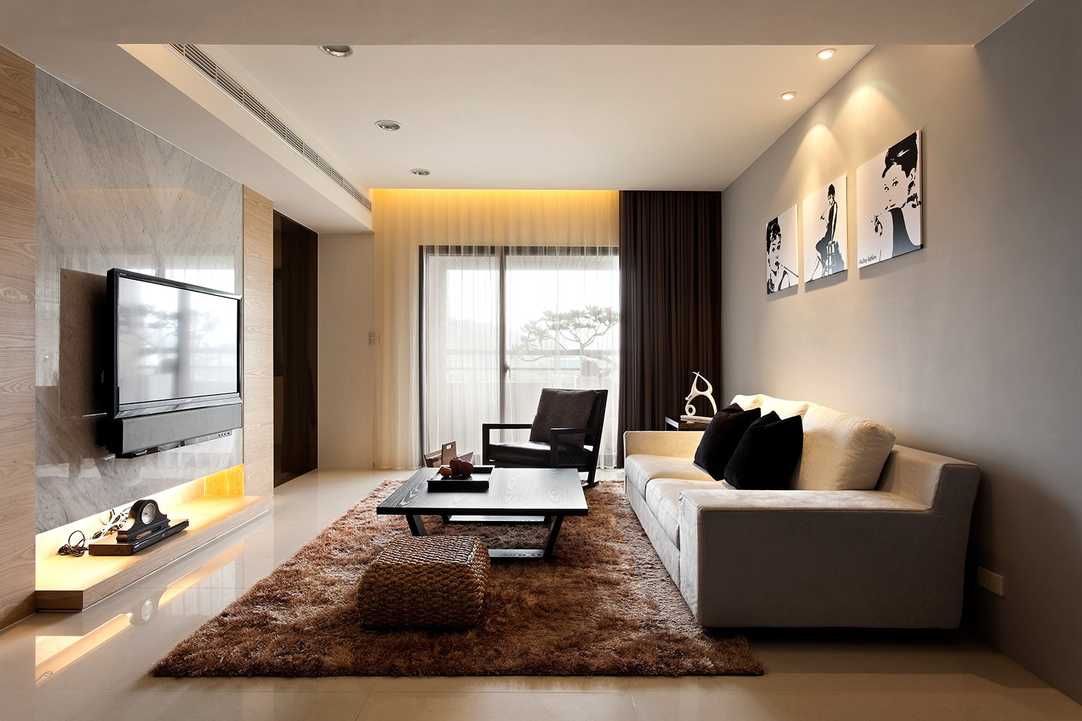 Modern Living Room Decoration Modern Minimalist Decor With A Homey Flow