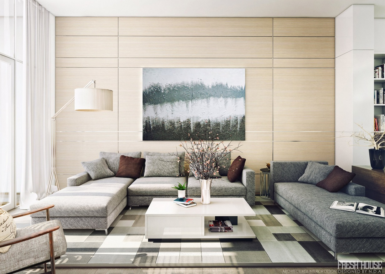 Modern Living Room Decoration Light Filled Contemporary Living Rooms