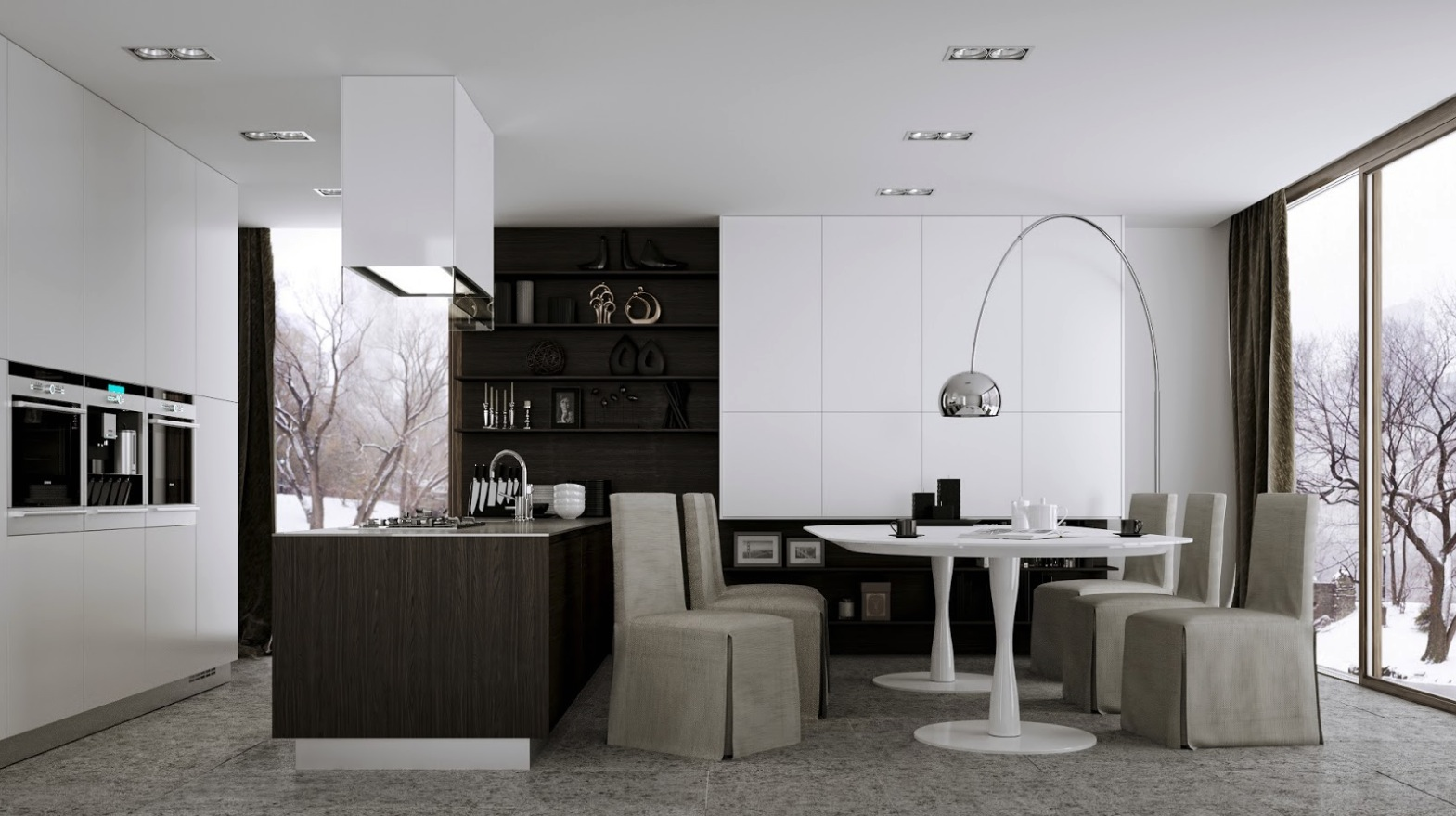 modern kitchen eat dining modern eat kitchen designs