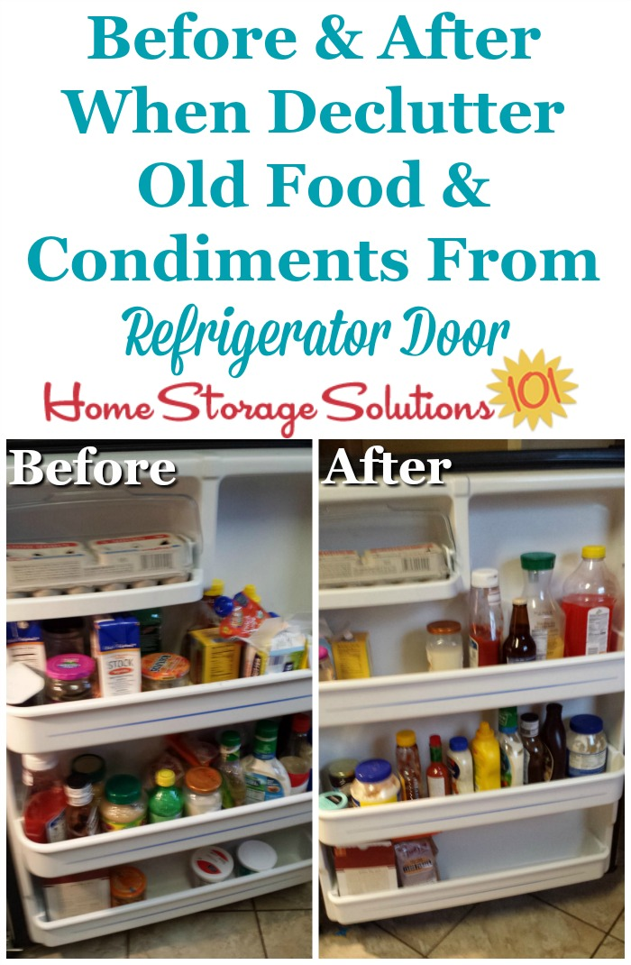 Trash Can How To Declutter Refrigerator Food: Old & Expired Items