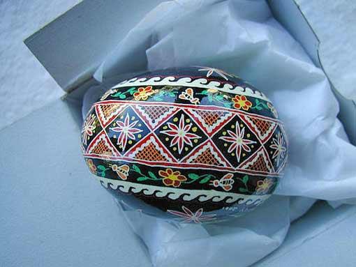 крашеные яйца роспись
