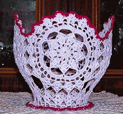 ваза связанная крючком