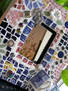 зеркало с мозаикой хендмейд