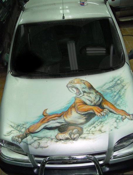 роспись на машине