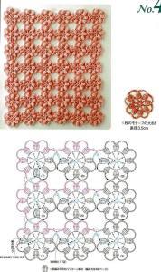 образцы мотивов крючком схемы